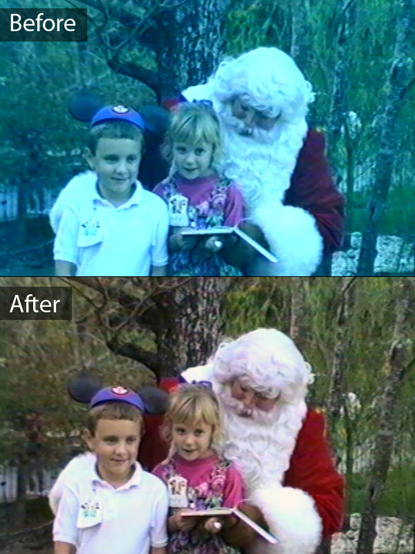 Video Tape Color Correction